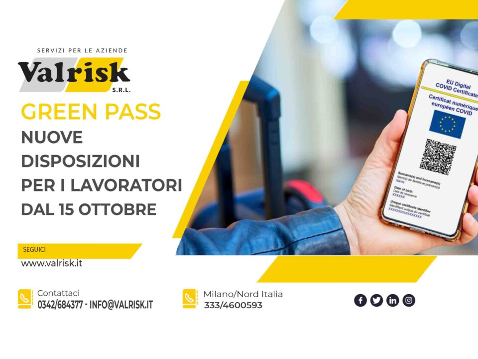 Green Pass Ottobre 2021